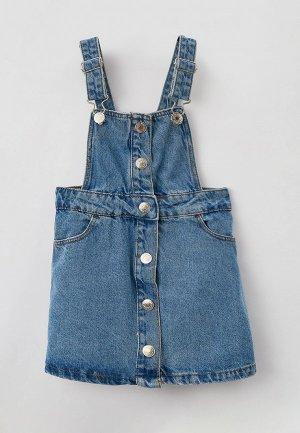 Платье джинсовое Acoola. Цвет: голубой
