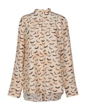 Блузка NINA RICCI. Цвет: бежевый