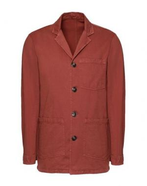 Пиджак 8 by YOOX. Цвет: ржаво-коричневый
