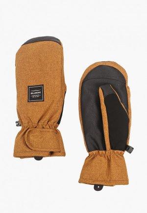 Варежки Billabong. Цвет: коричневый
