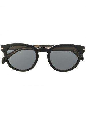 Солнцезащитные очки 1046/S в прямоугольной оправе Eyewear by David Beckham. Цвет: черный