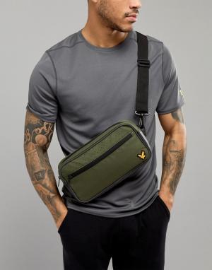Зеленая сумка-кошелек на пояс Lyle & Scott Fitness. Цвет: зеленый
