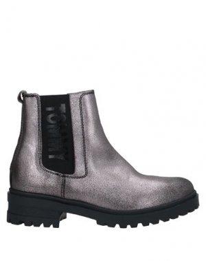 Полусапоги и высокие ботинки TOMMY JEANS. Цвет: свинцово-серый