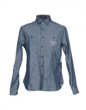 Джинсовая рубашка ALIFE. Цвет: синий