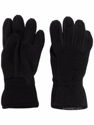 Перчатки с флисовой вставкой C.P. Company. Цвет: черный