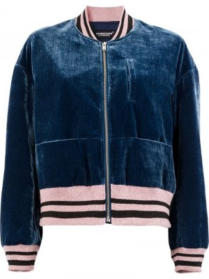 Куртка-бомбер с контрастной отделкой UNDERCOVER. Цвет: синий