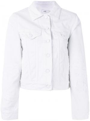 Джинсовая куртка на пуговицах Closed. Цвет: белый