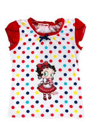 Футболка Betty Boop. Цвет: красный