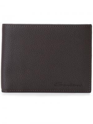 Классический бумажник Santoni. Цвет: коричневый