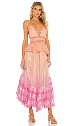 Макси платье emi ROCOCO SAND. Цвет: pink,peach