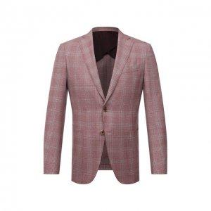 Шерстяной пиджак Luciano Barbera. Цвет: розовый