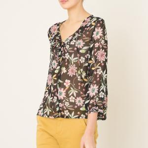 Блузка ERABLE LA BRAND BOUTIQUE COLLECTION. Цвет: рисунок черный