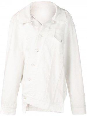Джинсовая куртка оверсайз Monse. Цвет: белый