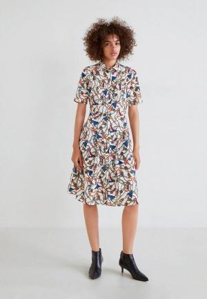 Платье Mango - COUBOY. Цвет: белый