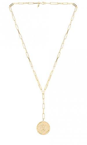 Ожерелье ana gorjana. Цвет: металлический золотой