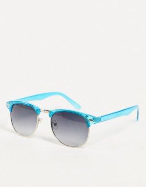 Солнцезащитные очки в голубой оправе Jeepers Peepers