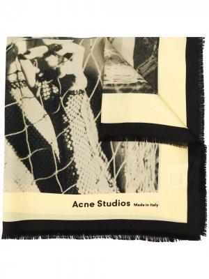 Бандана с принтом Acne Studios. Цвет: нейтральные цвета