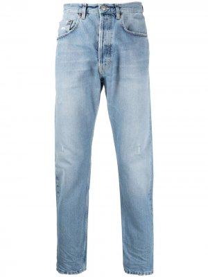 Укороченные зауженные джинсы Haikure. Цвет: синий