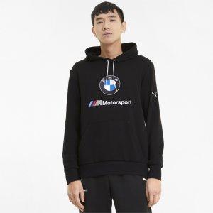 Толстовка BMW M Motorsport Essentials Mens Hoodie PUMA. Цвет: черный