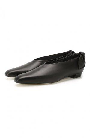 Кожаные балетки Bow Tie Proenza Schouler. Цвет: чёрный
