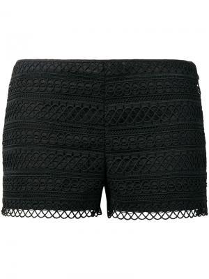 Приталенные шорты с вышивкой Charo Ruiz Ibiza. Цвет: черный