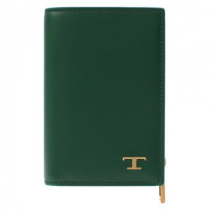 Кожаная обложка для паспорта Tod's. Цвет: зелёный