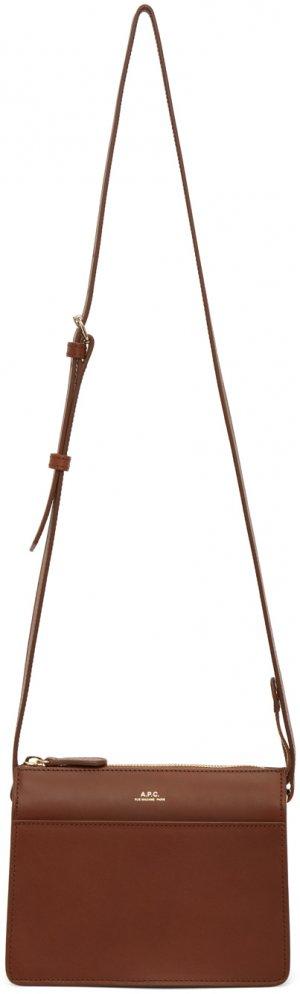 Brown Mini Ella Bag A.P.C.. Цвет: cad hazelnut