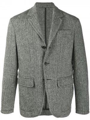 Пиджак с узором шеврон Dsquared2. Цвет: черный
