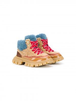 Ботинки с искусственным мехом Mi Sol. Цвет: нейтральные цвета
