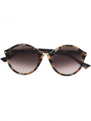 Солнцезащитные очки в округлой оправе Altuzarra. Цвет: белый