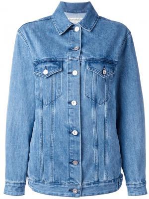 Джинсовая куртка с заплаткой lavenue Être Cécile. Цвет: синий