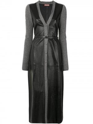 Платье с V-образным вырезом Altuzarra. Цвет: черный