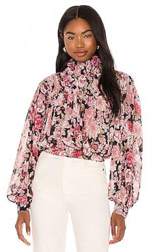 Блузка cyrus Bardot. Цвет: розовый