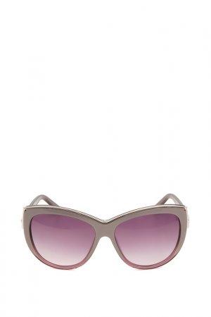 Очки солнцезащитные с линзами Swarovski. Цвет: 83z коричневый, золотистый