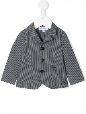 Пиджак в полоску на пуговицах Emporio Armani Kids. Цвет: синий