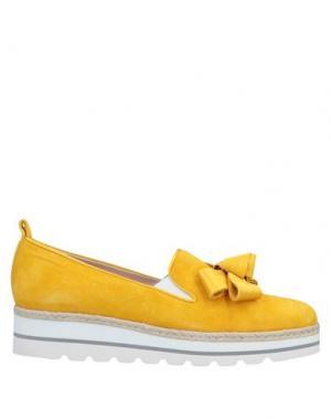 Мокасины ALBERTO ZAGO. Цвет: желтый