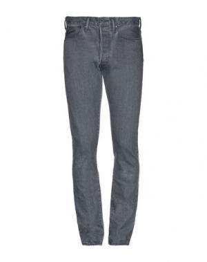 Джинсовые брюки KURO. Цвет: свинцово-серый
