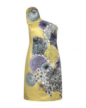 Короткое платье MIKAEL. Цвет: охра