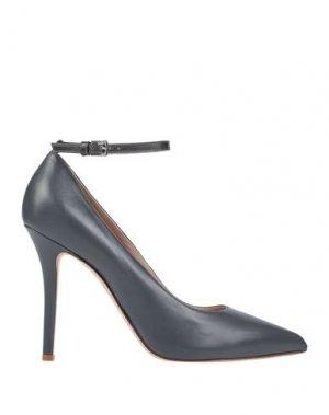 Туфли KALLISTÈ. Цвет: свинцово-серый