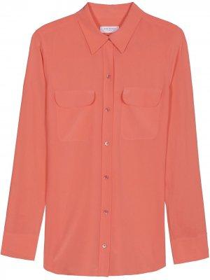 Рубашка узкого кроя Equipment. Цвет: розовый
