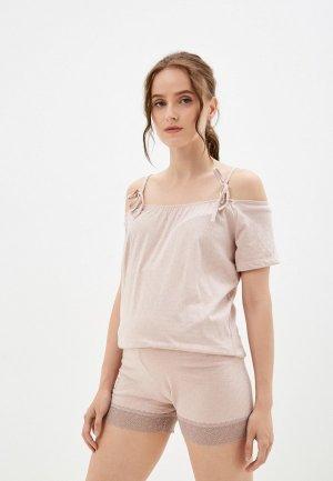 Пижама All Mixes. Цвет: бежевый
