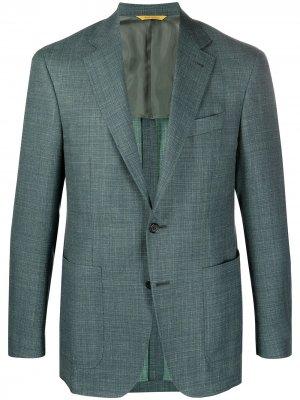 Пиджак строгого кроя Canali. Цвет: зеленый