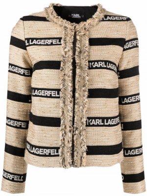 Куртка с логотипом Karl Lagerfeld. Цвет: черный