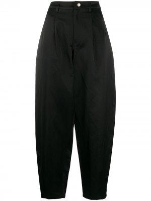 Зауженные брюки с завышенной талией Amen. Цвет: черный