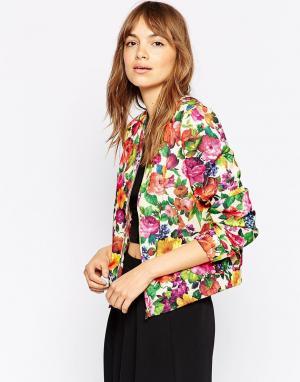 Куртка-пилот с цветочным принтом Vila
