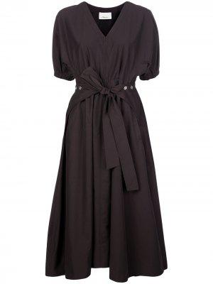 Платье миди в стиле милитари с поясом 3.1 Phillip Lim. Цвет: коричневый