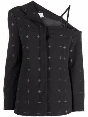 Asymmetric tailored jacket Coperni. Цвет: черный