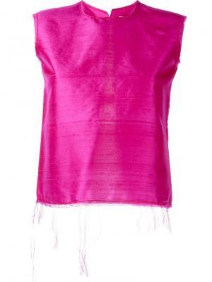 Майка с разрезом на спине Marquesalmeida Marques'almeida. Цвет: розовый и фиолетовый