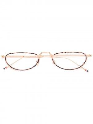 WHITE GOLD & TORTOISE GLASSES Thom Browne Eyewear. Цвет: золотистый