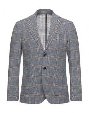 Пиджак DOMENICO TAGLIENTE. Цвет: пастельно-синий
